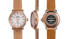 THE RUNWELL 41mm Natural Brown Leather Watch | Shinola®