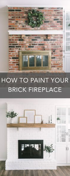 Most current Photo painted Brick Fireplace Ideas Sometimes it pays off to by pass a redesign! Rather then taking out a strong aged brick fireplace , spend less and still Home Fireplace, Home, Updating House, Diy Fireplace, Remodel, Brick Fireplace Makeover, Fireplace Remodel, Painted Brick, Painted Brick Fireplace