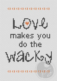 Buffy Love quote Printable PDF Pattern by pixystitches