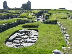 One of the best known prehistoric archaeological sites in Scotland, Jarlshof in Shetland -the remains of this site date from 2500 BC up to the 17th century AD. Photo by Pigalle on Flickr.