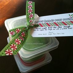 Little Play-doh gifts... use old baby food containers
