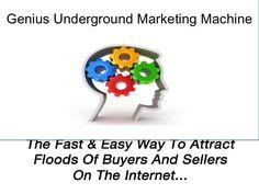 GUMM - Genius Underground Marketing Machine by SRECnow, via Slideshare