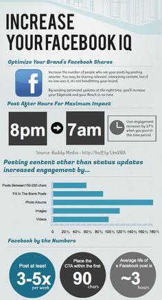 Optimize Your Brand's Facebook Shares Infographic - Design You Trust #socialmedia