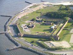 Fort Gaines. Dauphin Island.