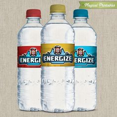 "Water and Juice ""Energize""  Transformers Rescue Bots Printable Birthday Bottle Labels. $5.00, via Etsy."