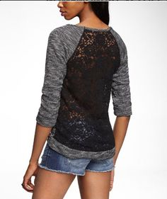 Express Lace Back Sweatshirt, $50 / 30 Sweatshirts You Can Wear To Work (via BuzzFeed)