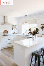 White Semihandmade Kitchen Renovation: Before + After - 1111 Light Lane - Kitchen Decor White Ikea Kitchen, White Kitchen Cabinets, Rustic Kitchen, New Kitchen, Kitchen Ideas, Kitchen Decor, Shaker Cabinets, Kitchen Inspiration, Kitchen Designs