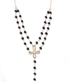 Alicia Marilyn Designs | Modern Collection: Necklaces - Double Strand Black Pearl Necklace