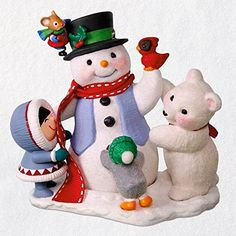 2018 Let's Build a Snowman - Club Hallmark ornament. This ornament brings together four different series. The Frosty Friends, Snow Buddies, Snowball and Tu Snowman Christmas Ornaments, Polymer Clay Christmas, Christmas Cookie Cutters, Christmas Signs, Christmas Stuff, Christmas Trees, Christmas Decorations, Xmas, Hallmark Holidays