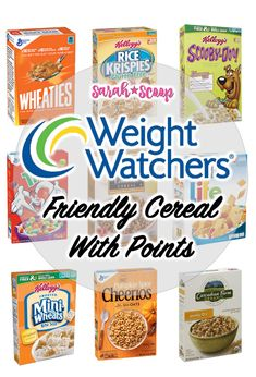 Weight Watchers Friendly Cereals List (All Under 4 Points). Weight Watchers Friendly Cereals List (All Under 4 Points) - Sarah Scoop. This list of Weight Watchers freestyle cereals will make your life a lot easier. Weight Watchers Snacks, Weight Watchers Tipps, Weight Watchers Breakfast, Weight Watchers Points List, Weight Watchers Program, Weight Watcher Smoothies, Weight Watchers Products, Weight Watchers Dressing, Weight Watcher Shopping List