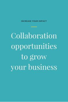 Are you a small business owner or online entrepreneur? Collaborations to grow your business help you get massive results and help you get your business to the top of your dream client's mind. Learn everything you need to know about collaborating as a smal Email Marketing Campaign, Email Marketing Strategy, Business Marketing, Online Marketing, Seo Strategy, Business Help, Growing Your Business, Online Business, Business Ideas