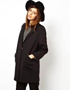 ASOS Cocoon Coat With Zip Detail