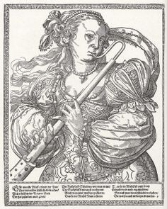 Musicians, illustrations by Tobias Stimmer, second half of 16th century