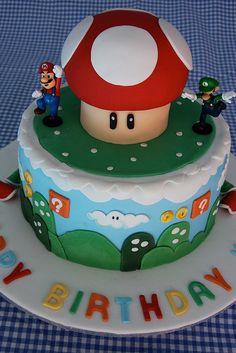 Cute Mario Brothers birthday cake