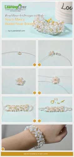 How to Make a Beaded Flower Bracelet