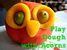 acorn and conker crafts with no cook playdough Halloween Activities For Kids, Craft Projects For Kids, Autumn Activities, Halloween Crafts, Craft Ideas, Preschool Activities, Kids Crafts, Conkers Craft, Cooked Playdough