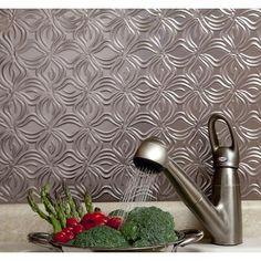 Fasade - Lotus Brushed Nickel Backsplash - B63-29 - Home Depot Canada