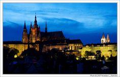 Czech Republic Prague Castle at Night