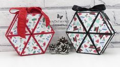 Intatwyne Designs - Independent Stampin' Up! UK Demonstrator - Crafty Christmas Countdown - Let it snow Hexagon roll-up gift box tutorial. All supplies available from my online shop. Christmas Gift Box, Stampin Up Christmas, Christmas Countdown, Christmas Projects, T Craft, Craft Gifts, Diy Gifts, Diy Gift Box, Gift Boxes