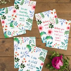 We are super excited to bring another brand new set of postcards to the Izzy & Pop collection. Encouraging Bible Verses, Bible Encouragement, Inspirational Verses, Unique Gifts, Best Gifts, Fearfully Wonderfully Made, Holiday Club, Pop Collection, Positive Messages