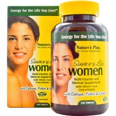 Nature's Plus, Source of Life, Women, Multi-Vitamin and Mineral Supplement, 120 Tablets - iHerb.com