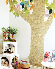 Add a sense of fun to a kid's bedroom with playful wall decal.