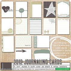 For my Project Life - DigiKit - 2012 Journaling Cards By Erica Hernandez Project Life Karten, Project Life Cards, Project 365, Project Ideas, Craft Ideas, Layout Inspiration, Life Inspiration, Scrapbook Paper Crafts, Scrapbook Supplies