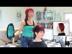 Extreme Pixie Short Haircut Makeover by Anja Herrig, hairundmehr.com red hair dye - YouTube