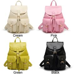 How nice Leisure Pink  Beam Port Dual Gril's Rucksack Front Pockets College Backpack ! I like it ! I want to get it ASAP!