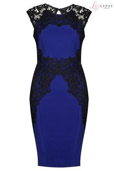 Buy Lipsy Lace Silhouette Dress from the Next UK online shop