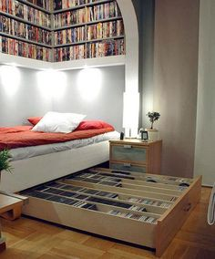 Una buena opción para aprovechar espacios... y más si sos amante de la lectura!!