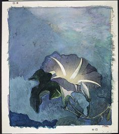 """Nocturne,"" John La Farge, ca. 1885, watercolor, gouache, and charcoal on off-white wove paper adhered to wove paper, 8 1/4 x 7"", Metropolitan Museum of Art."