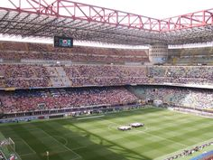 Watching one of the great Serie A teams live...my husband needs to enjoy this vacation too (Milan)! #monogramsvacation