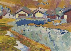 Giovanni Giacometti (Swiss, 1868-1933), Vorfrühling in Stampa [Early spring in Stampa], 1911. Oil on canvas, 51 x 70.5cm.