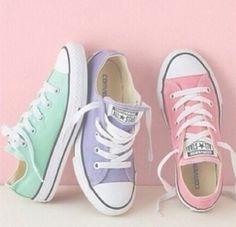 Converse shoes, pastel style