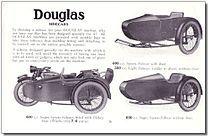 Douglas produceerde ook enige tijd zijspannen. Deze brochure dateert uit 1932.