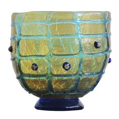 Asymmetrical Italian Glass Vessel