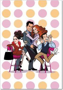 Will and Grace Funny Birthday Cards, Birthday Greeting Cards, Birthday Greetings, Happy Birthday, Funny Christmas Cards, Christmas Greetings, Holiday Cards, Music Collage, Will And Grace