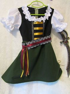 Girl's Size 5 to 6 years old Zarina The Pirate by EraOfMakeBelieve