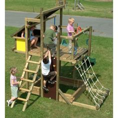 Houtland Adventure Tower with slide | Climbing Frames | Buy online from The Active Toy Co.