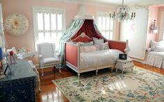 soft colours, girls room
