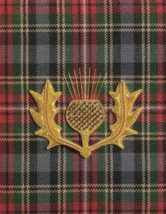 Thistle and Kilt: Goldwork and Plaid