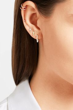 Post fastening for pierced ears Pearl: Japan NET-A-PORTER.COM is a certified member of the Responsible Jewellery Council
