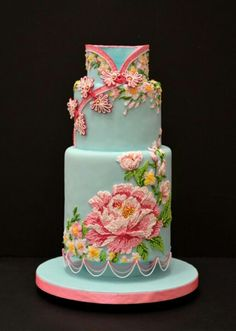 cake like a mandarin dress, #overthetop #beautiful! would never make this but sure will pin it, haha