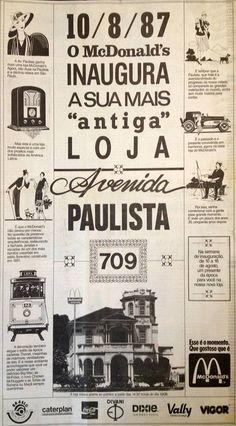 McDonald's 1987 Sao Paulo launch in old coffee baron's mansion on Avenida Paulista #mcdonalds #brazil #saopaulo
