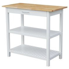 Attractive Kitchen Island With Solid Americana Hardwood Top