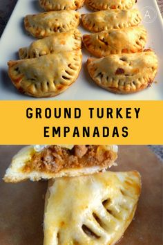 Ground Turkey Empanadas: A tender flaky crust surrounds a lighter ground turkey filling that's spiced and baked to perfection. - Slice of Southern Turkey Pie, Baked Turkey, Healthy Ground Turkey, Best Ground Turkey Recipes, Ground Beef, Empanadas Recipe, Baked Empanadas, Candida Diet Recipes, Advocare Recipes