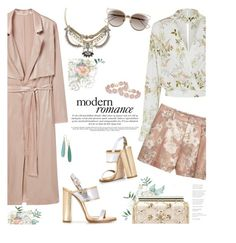 """Romance Me"" by lisalockhart ❤ liked on Polyvore featuring MANGO, Sole Society, Dsquared2, Oscar de la Renta, Christian Dior, BaubleBar, Ippolita, florals, floralprint and metallic"