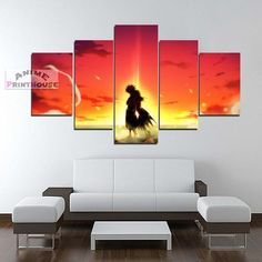 Fairy Tail Natsu & Lucy Sunset Canvas Wall Decor    #fairy #tail #canvas #painting #art #home #decor #merrchandise #natsu #lucy #nalu    https://www.animeprinthouse.com/collections/all/products/fairy-tail-natsu-lucy-sunset-printed-canvas-wall-decor