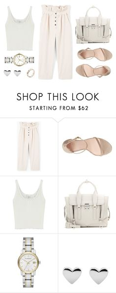 """""""Untitled #21265"""" by florencia95 ❤ liked on Polyvore featuring MANGO, Stuart Weitzman, 3.1 Phillip Lim, Burberry and Cartier"""
